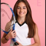 tennis themed bat mitzvah portrait