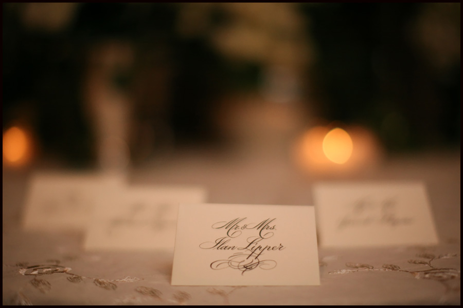 place card at temple beth sholom roslyn wedding