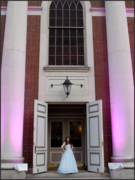 Bat Mitzvah photo in front of 583 Park NYC
