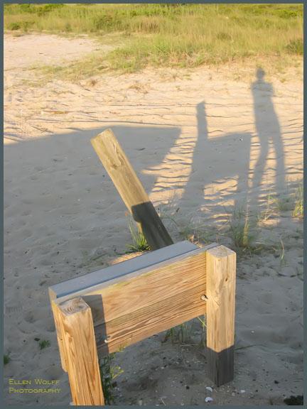 shadowplay in the sand - found beach chair
