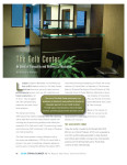 redesigned Gelb Center reception area