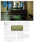 redesigned Gelb Center reception area