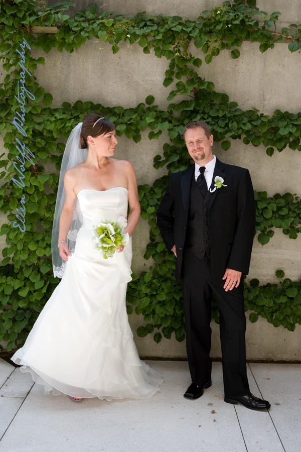 pepsico campus sculpture garden wedding session