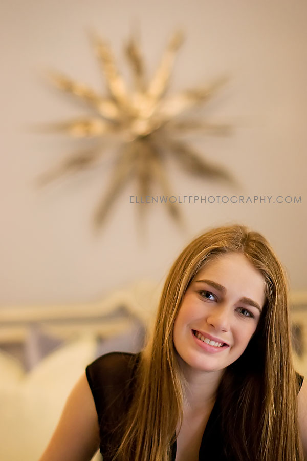 relaxed Bat Mitzvah portrait at home in NYC