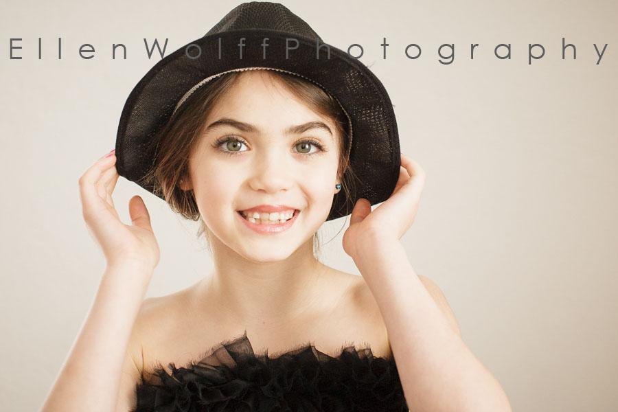 cute girl wearing a hat