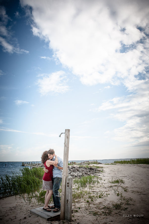 Engagement photos at the beach on li