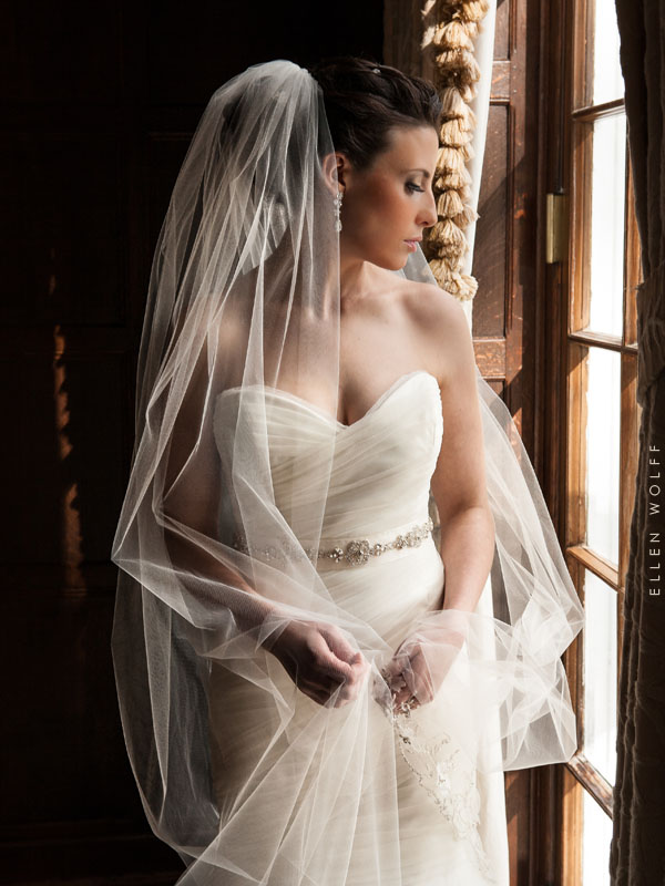 windowlight portrait of the bride at muttontown cc, east norwich, long island, ny