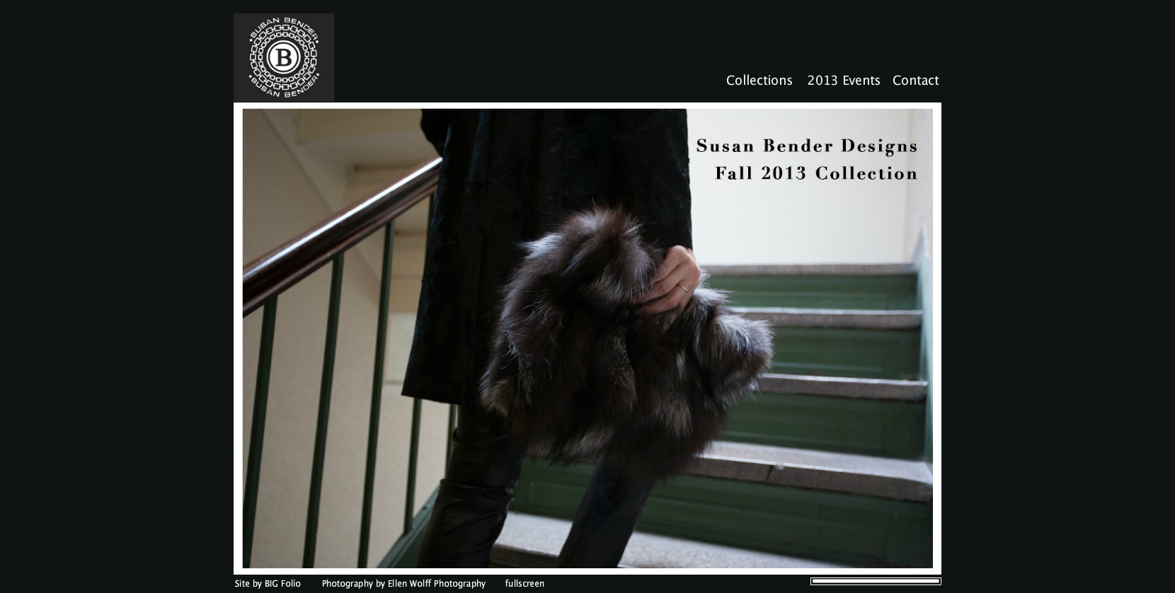 susan bender designs website landing page