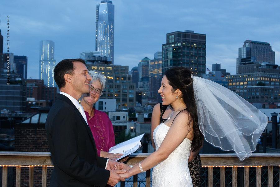 nyc rooftop wedding ceremony