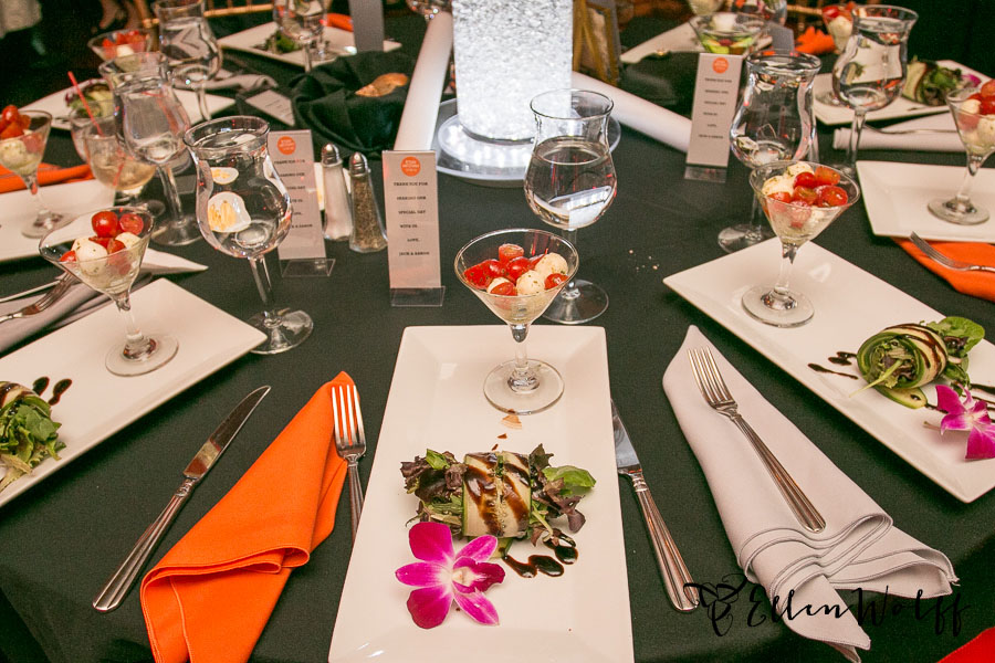 Hasson Caterers salad course at temple or elohim