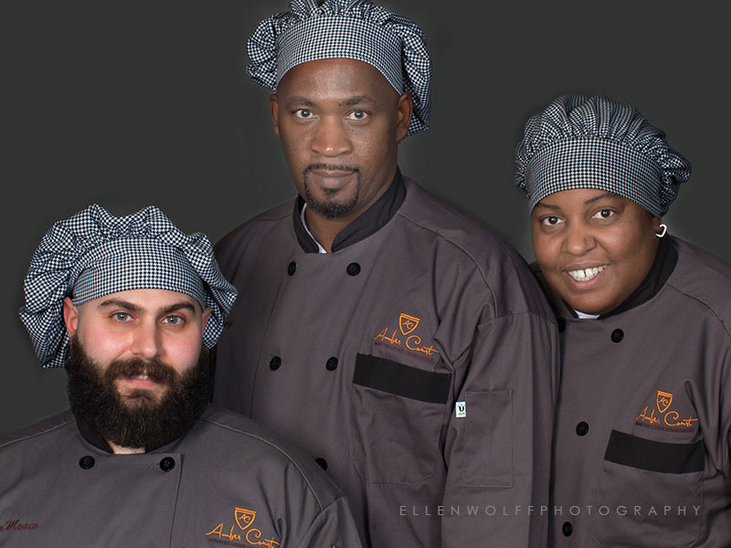photo of 3 chefs for marketing materials