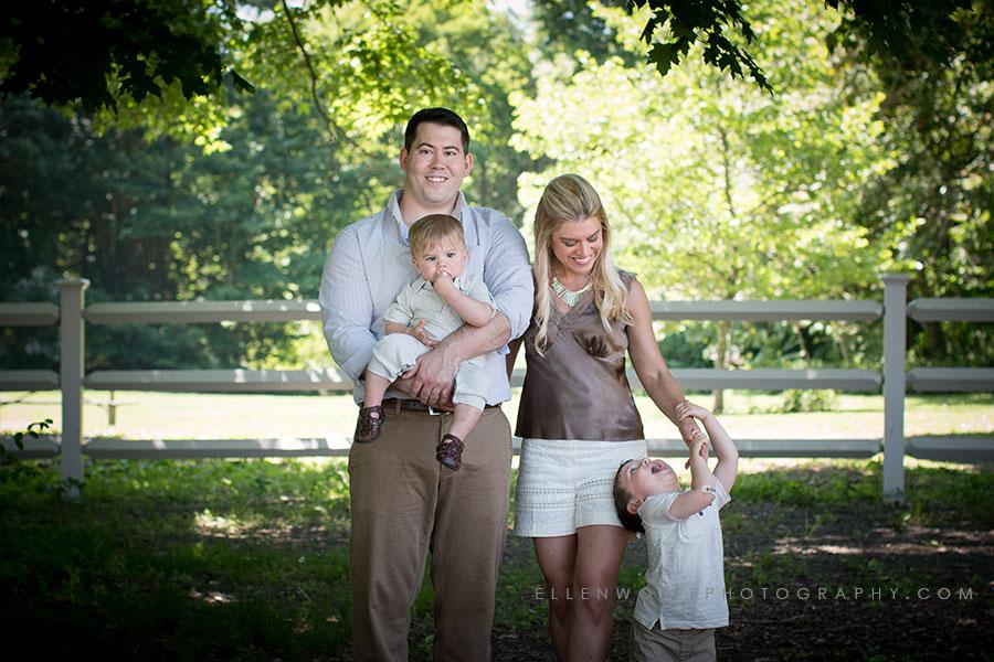 professional family portrait session in Cranbury Park Norwalk