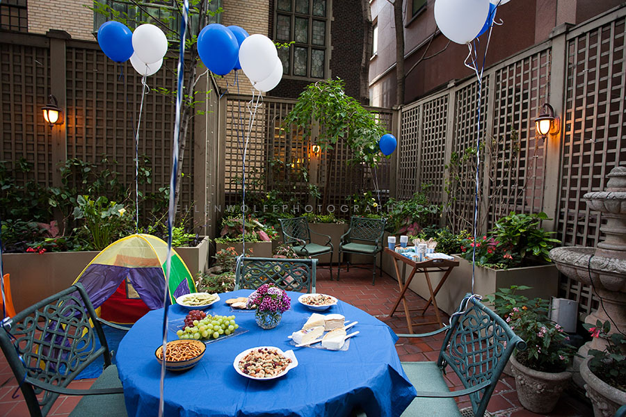 outdoor childrens birthday party photo