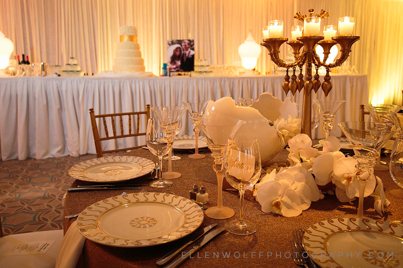 place setting details at fresh meadow country club