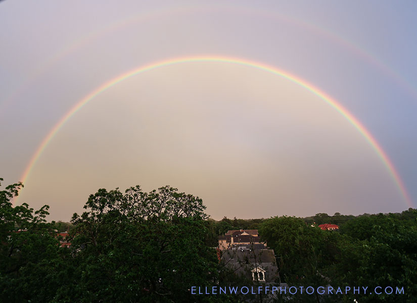 photo of a double rainbow on long island