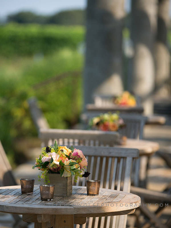 outdoor hamptons event decor