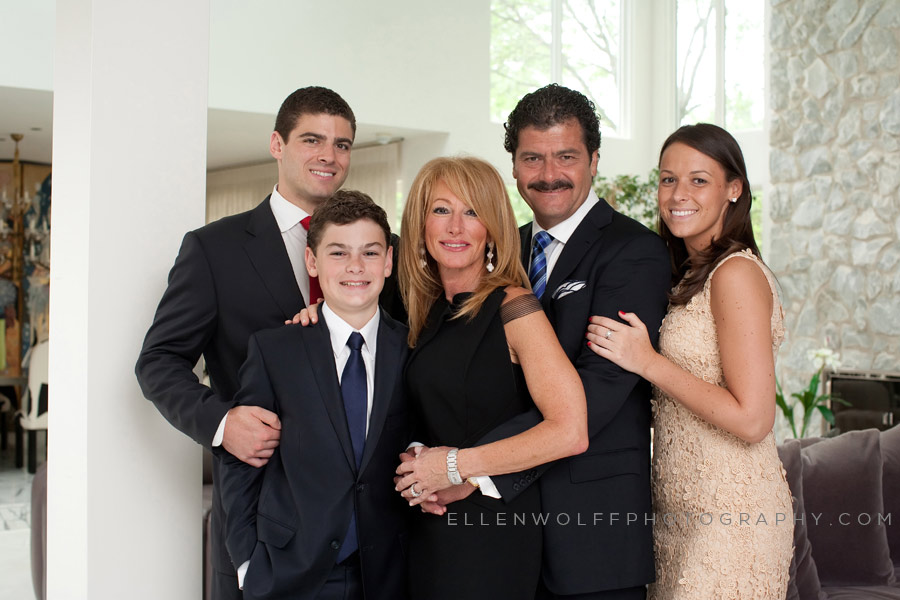 formal family photo for bar mitzvah album