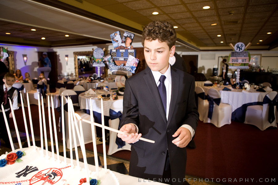 candelighting at a bar mitzvah