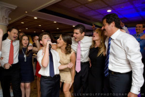 candid family bar mitzvah photo