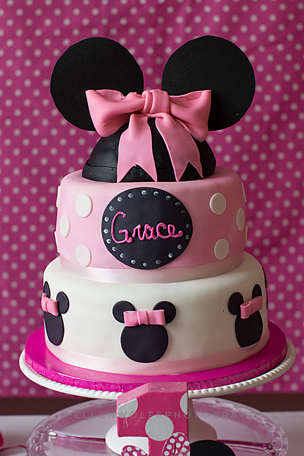 3 tiered minnie mouse birthday cake