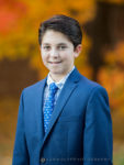 outdoor bar mitzvah portrait in Fall