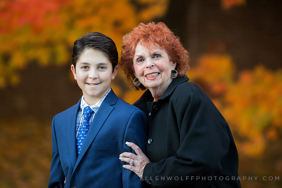 bar mitzvah boy and his grandmother