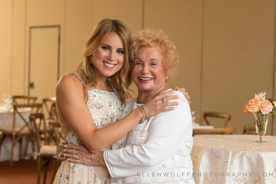the bride and her grandmother
