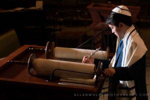 dramatically lit bar mitzvah photo