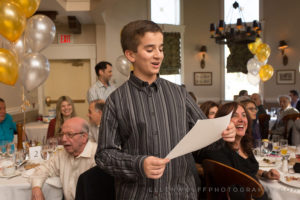 making a speech