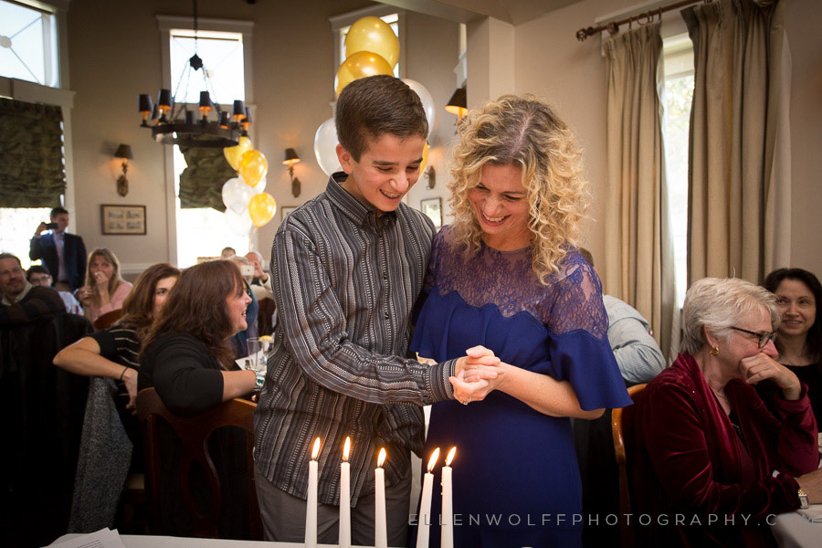 candid bar mitzvah photo