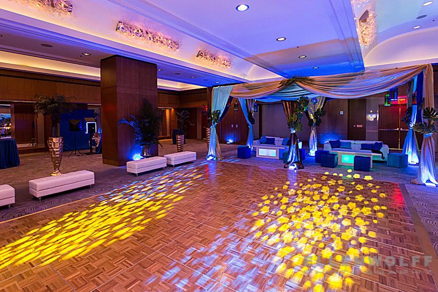 Ritz Carlton Westchester bar mitzvah decor photo