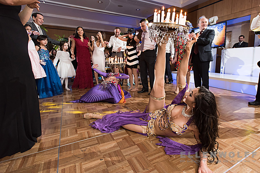 belly dancers perform at the bar mitzvah