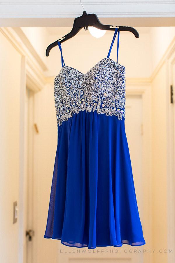 blue bat mitzvah dress with jewel encrusted bodice