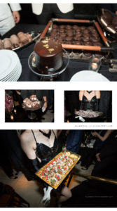 dessert is served at a private party hosted at mr Chow NYC