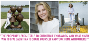 photos of Vicki Furman in side Hampton Sheet magazine mid summer 2018