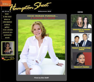 Vicki Furman on the cover of Hampton Sheet midsummer edition