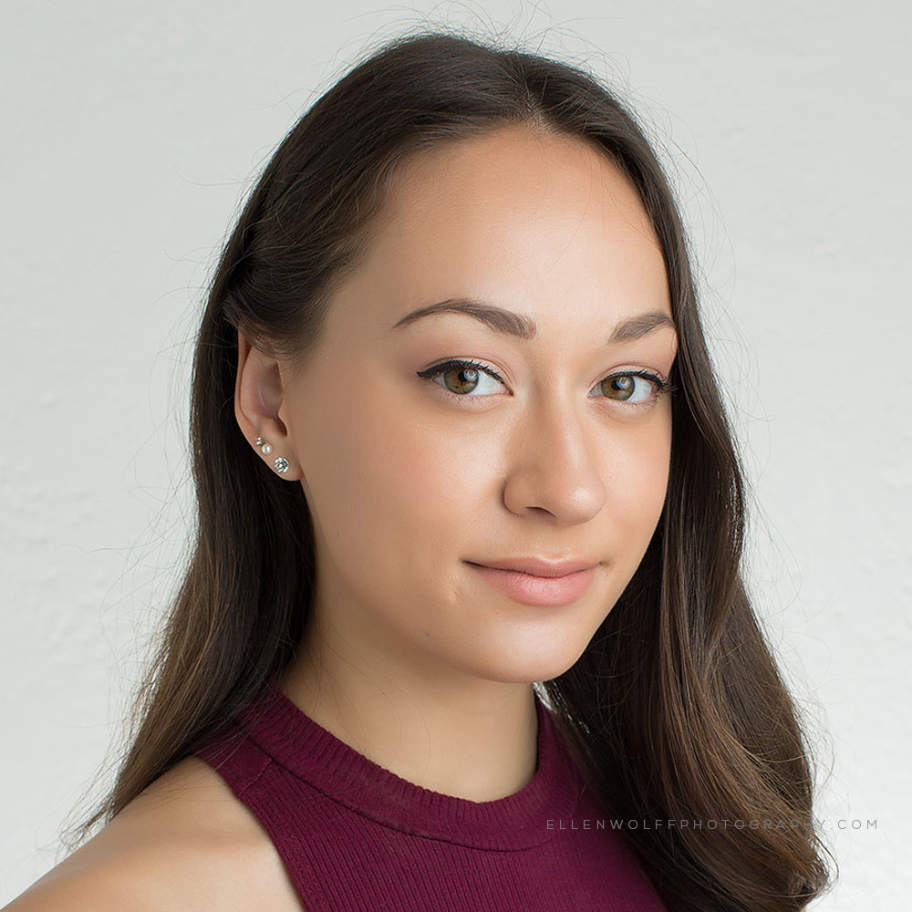 headshot photo for dance school graduate