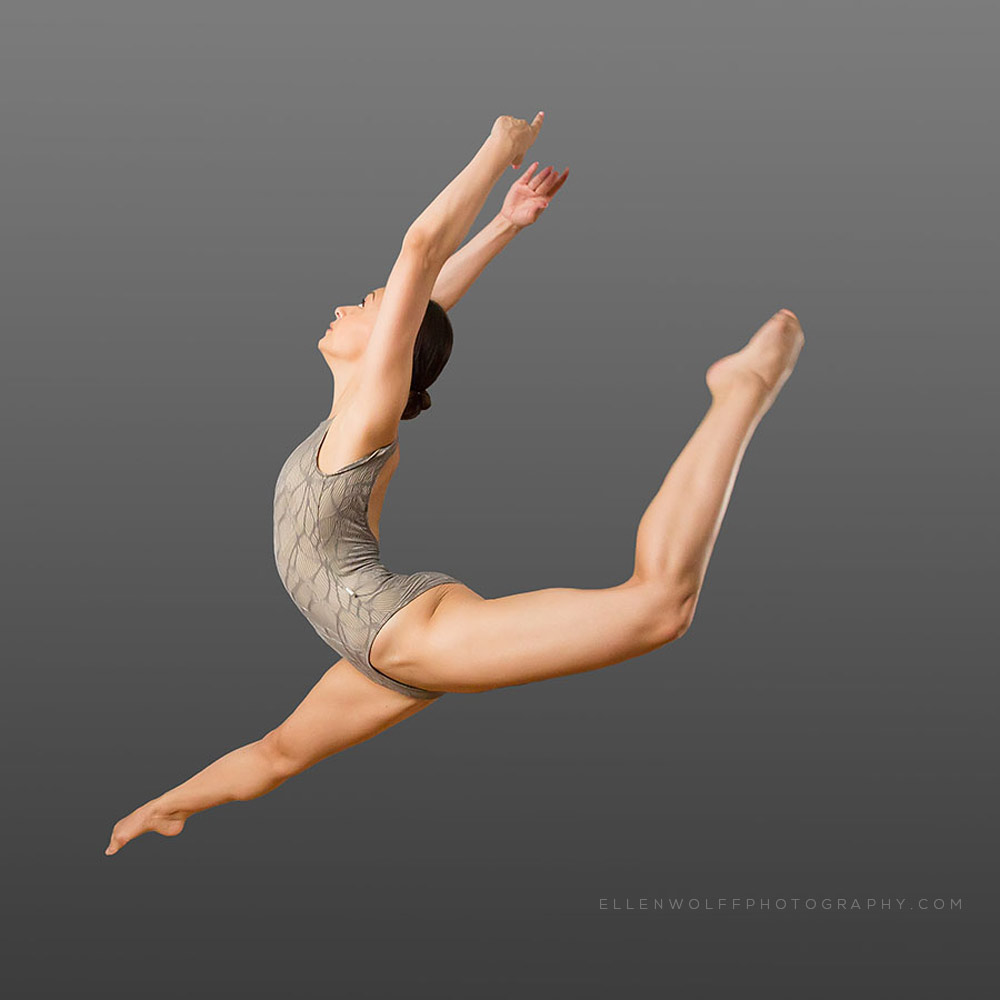 audition photo of modern dancer jumping